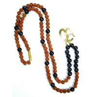 Mogul Saturn Shani Mala Beads Onyx Rudraksha Meditation Malas Promoting Inner Strength - Walmart.com