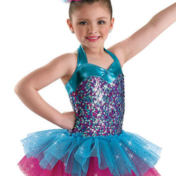 Girls' Sequin Tiered Dance Dress; Weissman Costume