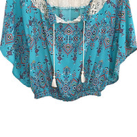Tropical Vacay Printed Blouse