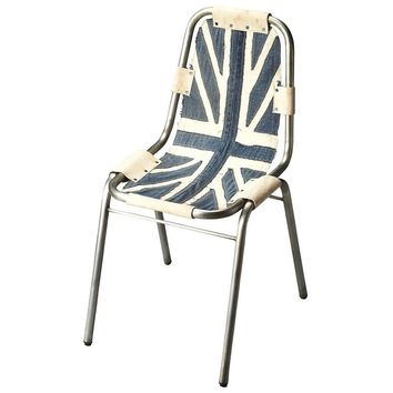 Industrial Chic Denim Shelton Side Chair