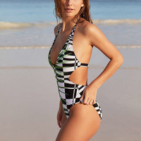 Out From Under Cutout Printed One-Piece Swimsuit - Urban Outfitters