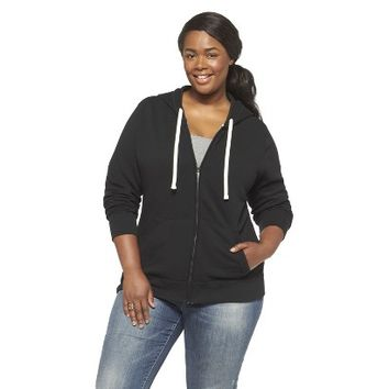 Plus Size Long Sleeve Fleece Hoodie-Mossimo Supply Co
