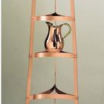 60.5 Inch Six Shelf Satin Copper Cookware Stand
