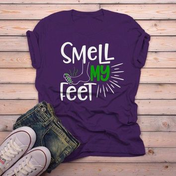 Men's Funny Halloween T Shirt Smell My Feet Graphic Tee Cool Matching Shirts
