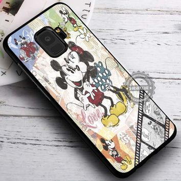 Minnie And Mickey Mouse Vintage iPhone X 8 7 Plus 6s Cases Samsung Galaxy S9 S8 Plus S7 edge NOTE 8 Covers #SamsungS9 #iphoneX