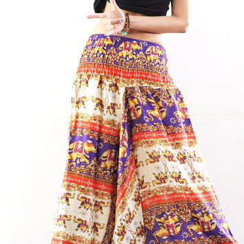 Thai harem pants womens yoga pants gypsy clothing boho Trousers Jumpsuit