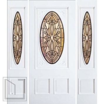 jeld-wen A115 Carved Paint Surface Door-Sidelights Eggshell Finish Glue Chip Gotta glass