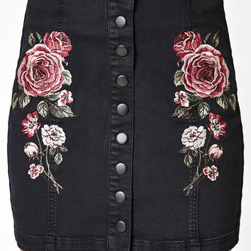 Kendall and Kylie Snap Front Panel Skirt at PacSun.com