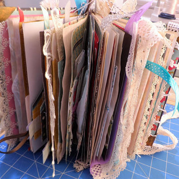 JUNK JOURNAL - Mixed Media Journal - Shabby Chic - Travel Book - Handmade - Smash Book - One of a kind Book - Free Shipping Australia Wide.