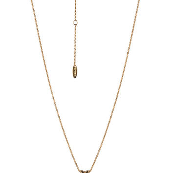 Initial Y Charm Necklace in Gold