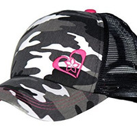 Pink Camo Trucker Hat for Women and Girls of All Ages, One Size Fits Most