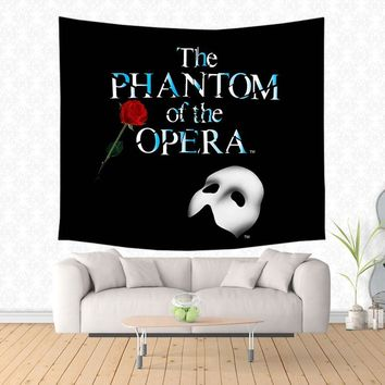 2017 New Musical The Phantom of the Opera Design Wall Hanging Tapestry Fashion Wall Art Decor Tapestry Beach Mat