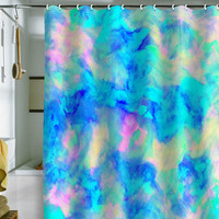 DENY Designs Home Accessories | Amy Sia Electrify Ice Blue Shower Curtain