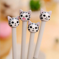 1PCS New Arrival Cute Cheese Cat Gel Ink Pen Promotional Gift Stationery School & Office Supply Student Writing pen 0.5mm