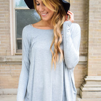 Love to Lounge Long Sleeve Top Heather Grey