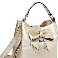 BetseyJohnson.com - HOPELESS ROMANTIC BUCKET TOTE GOLD