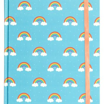 Rainbow Polka Dot Hardbound Journal - LAST ONE!