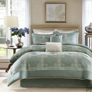 Newhaven 8 Piece Comforter Set by Madison Park Signature