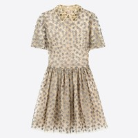 Valentino Dress In Embroidered Chiffon, Dresses for Women - Valentino Online Boutique