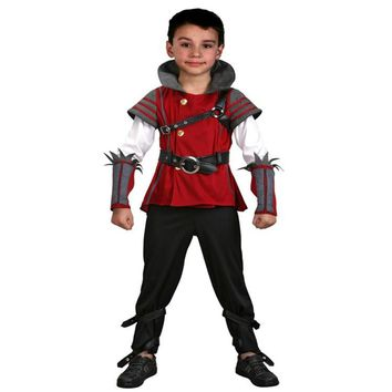 Limited Deluxe Boys Medieval Warrior Costume Child Historical Renaissance Fantasy Halloween Cosplay Clothing