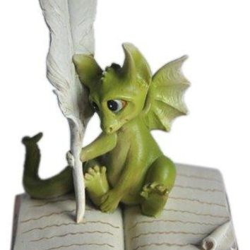 Top Collection Enchanted Story Fairy Garden Dragon Writing Outdoor Statue