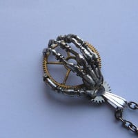 Steampunk Pendant Hand The Machine by amechanicalmind
