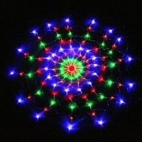 TOMTOP Colorful RGB Net 120 LED Light for Christmas Party Wedding US 110V Ships from CA