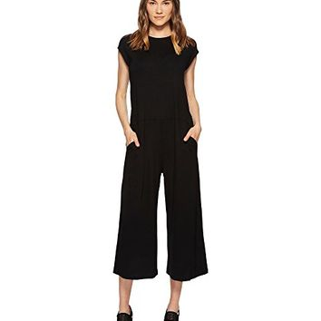 Eileen Fisher Lightweight Viscose Jersey Wide Leg Jumpsuit