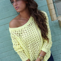 Pastel Yellow Knit | The Rage