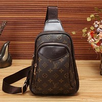 Perfect LV Louis Vuitton Women Leather Backpack Crossbody Satchel