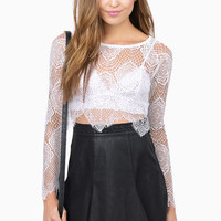 Oh So Lacey Crop Top $39