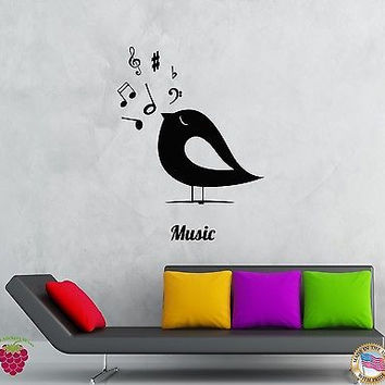 Wall Stickers Vinyl Decal Birds Notes Music Romantic Decor For Bedroom (z2070)