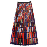 Fendi Fashion New Multicolor More Letter Print Contrast Color Shopping Leisure High Quality Skirt Women