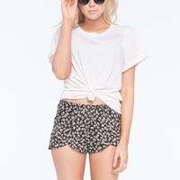 Volcom New Addiction Womens Shorts Black/Pink  In Sizes