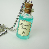 Mermaid Tears Glass Bottle Necklace
