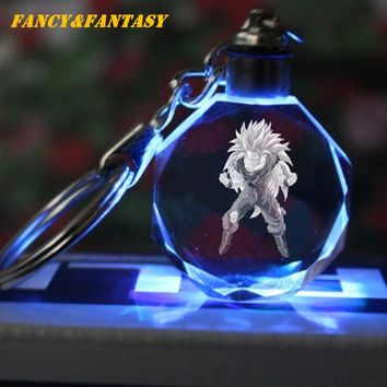 Fantasy Light Up Dragon Ball Crystal Keychain