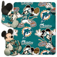 Miami Dolphins NFL Mickey Mouse with Throw Combo