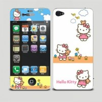 Body Decal Cute Hello Kitty Screen Protector Skin Sticker for Apple iPhone 4 / 4S