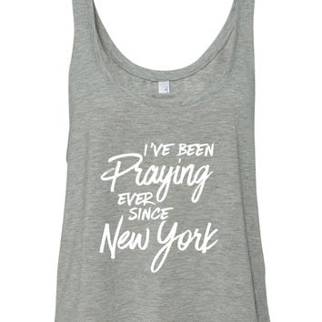 "Harry Styles ""I've Been Praying Ever Since New York"" Boxy, Cropped Tank Top"