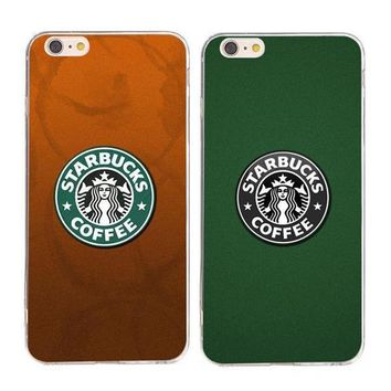 Perfect Starbucks Fashion Print Sakura wind iPhone Phone Cover Case For iphone 6  6plus  7 7plus
