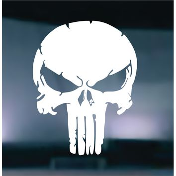 The Punisher Distressed Vinyl Graphic Decal