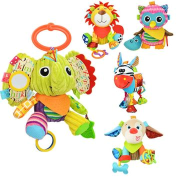 Animal Teether Rattle Toys for cribs, strollers, play gyms