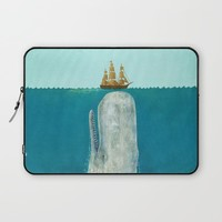 The Whale  Laptop Sleeve by Terry Fan