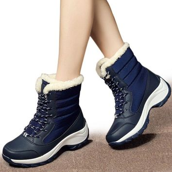 Women Boots Keep Warm Women Shoes Winter Warm Fur Snow Boots Plush Round Toe Ankle Boots Winter Platform Botas Mujer Booties