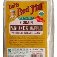 Bob's Red Mill Organic 7 Grain Pancake & Waffle, Whole Grain Mix, 26-Ounce Bags (Pack of 4)