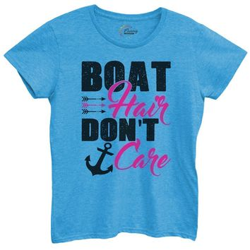 Womens Boat Hair Don't Care Tshirt