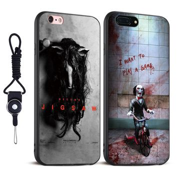 The Jigsaw Killer SAW Horror Soft Silicone Tpu Phone case Cover Shell For Apple iPhone 5S SE 6 6S 6Plus 6sPlus 7 7Plus 8 8Plus x