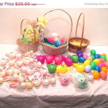 Easter, Basket, Plastic, Bunny, Eggs, Toy, Hunt, Lot, White, Decoration, Ornament, Kids, Supply, Sunday, Rabbit, Holiday, Woven, Bedding