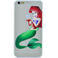 Disney's Little Mermaid Ariel Jelly Clear Case For Apple Iphone 6/6s (4.7-Inch)