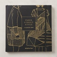 Paris Street Style Coloring Book by Anthropologie in Black Size: One Size Books